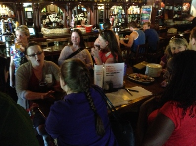 Everyone got to network with someone new at the July 2013 CapSciComm meetup.
