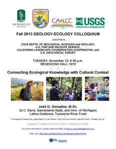 EcologyGeologyColloquiumFlyer_12Nov2013_Gonzalez