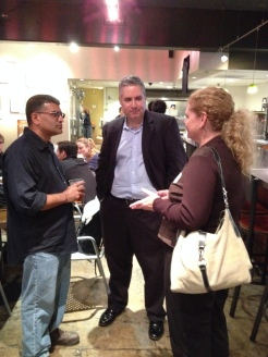 CapSciComm colleagues met up at the 3rd and U Cafe in Davis before walking over to the Joe Palca guest lecture.