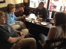 Researchers attending the Ecological Society of America conference mingled with our local writers.
