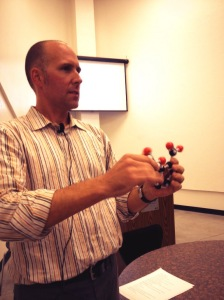 UC Davis Chemistry Professor Jared Shaw was the guest for the first-ever Science Night Live event in Lodi.