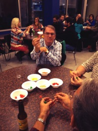 """Participants show off their """"candy molecules"""" at the Science Night Live event in Lodi on November 5, 2014."""