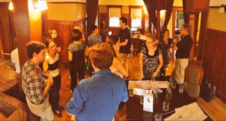 Local science communications professionals gather at the CapSciComm meetup on July 29th, 2015. (Image Credit: Ben Young Landis)