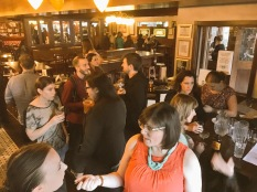 Packing the bar at de Vere's after our February 2016 workshop.