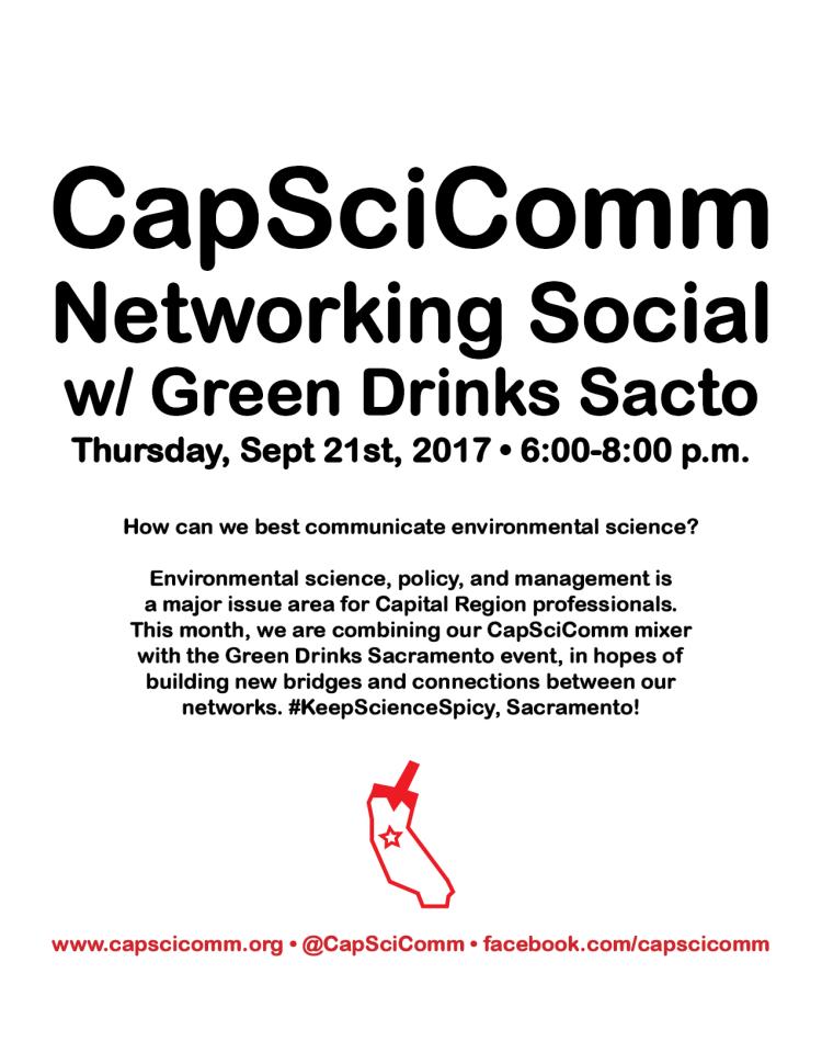 Poster for CapSciComm Netorking Social Event