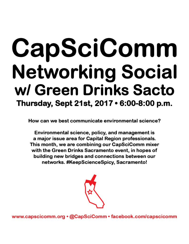 Poster for CapSciComm Netorking Social Event